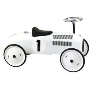 porteur voiture vintage blanc