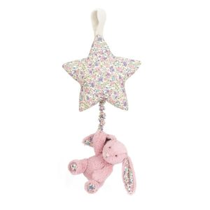 peluche musicale lapin rose