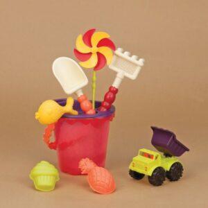 jouet de plage rouge enfant