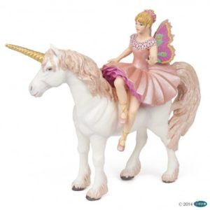 figurine ballerine sur sa licorne - 38822