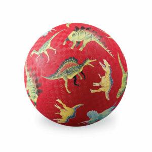 Balle Dinausaures Rouge 13 cm