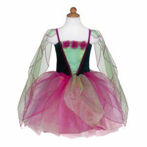 robe de fée à fleur vert
