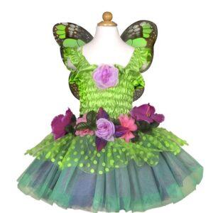 robe de fée de luxe verte