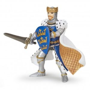 figurine roi arthur bleu - 39953